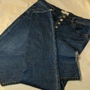 Free People High Waisted Skinny Button Fly sz 30